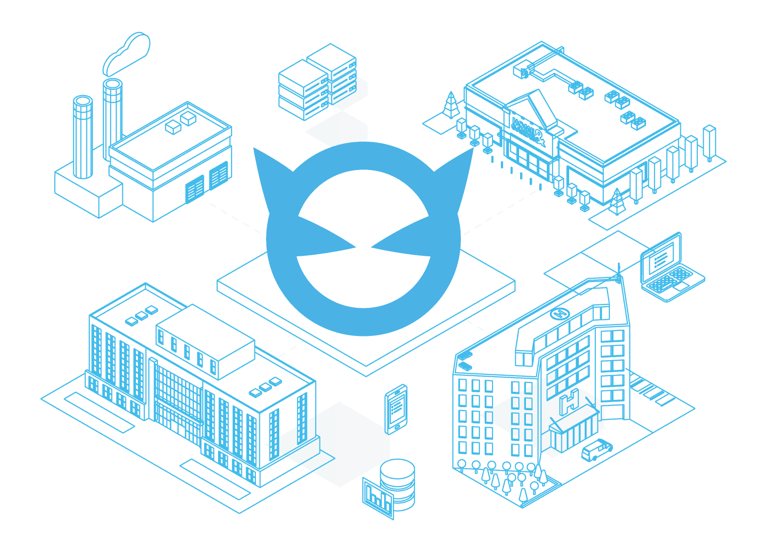 BlueCat - Sample Illustration Style